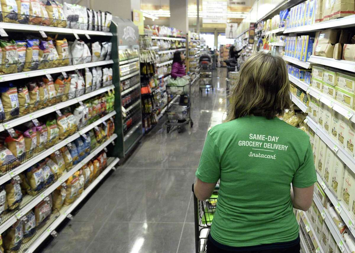 Instacart Instacart, an on-demand grocery delivery app, is hiring an additional 250,000 shoppers by the end of June, according to an article from the company from April 23. Instacart says the months of the pandemic have been its busiest ever, with the highest demand coming from California, New York, and Washington D.C., among other locations. This slideshow was first published on Stacker