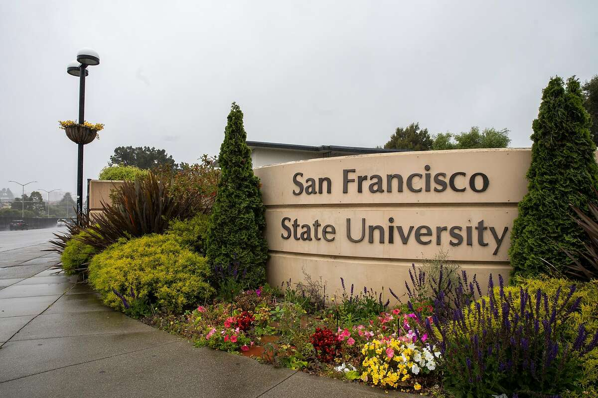The closed campus at San Francisco State University on Thursday, May 14, 2020, in San Francisco, Calif. Due to the coronavirus pandemic, the California State University system will conduct fall semester primarily online.