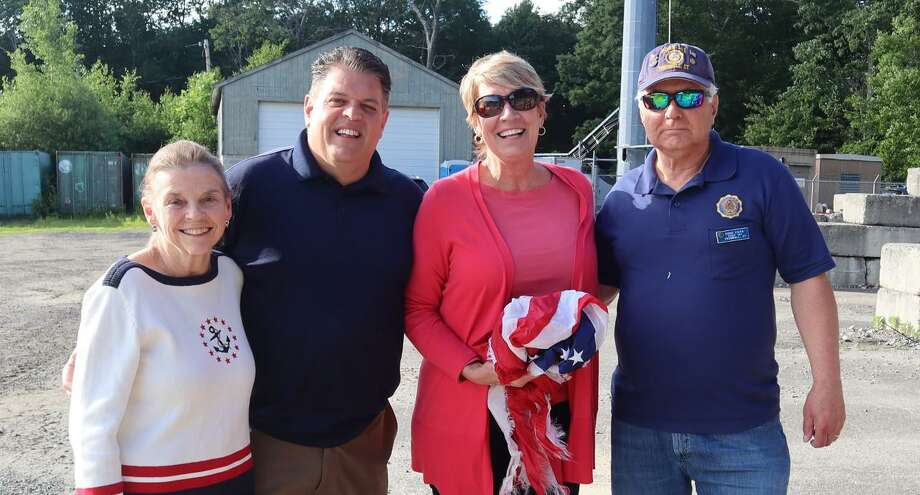 State Reps. David Rutigliano (R-123), Laura Devlin (R-134) and Ben McGorty (R-122), in cooperation with the Trumbull American Legion Post #141, are collecting flags from Trumbull residents for disposal in a dignified and respectful way. Photo: Contributed Photo