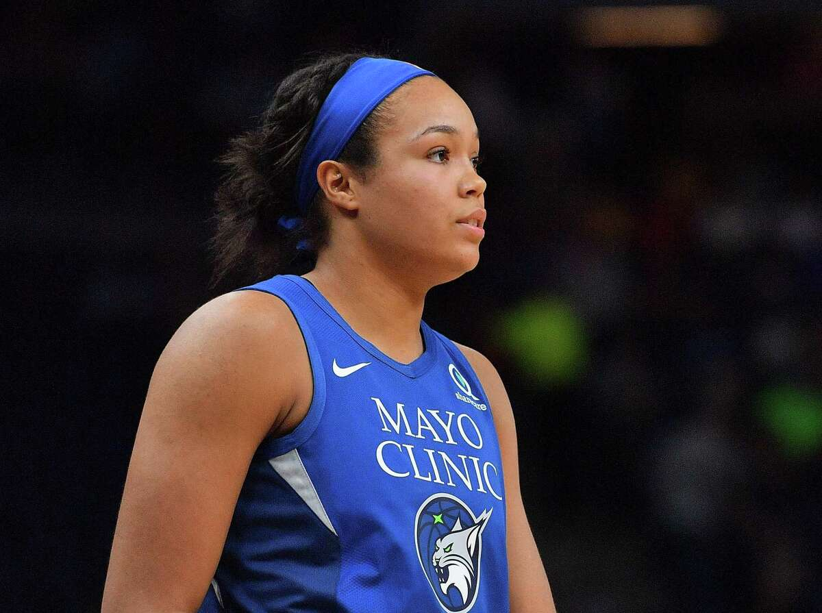 MINNEAPOLIS, MINNESOTA - MAY 25: Napheesa Collier #24 of the Minnesota Lynx stands on the court during her team's game against the Chicago Sky at Target Center on May 25, 2019 in Minneapolis, Minnesota. The Lynx defeated the Sky 89-71. NOTE TO USER: User expressly acknowledges and agrees that, by downloading and or using this photograph, User is consenting to the terms and conditions of the Getty Images License Agreement. (Photo by Sam Wasson/Getty Images)