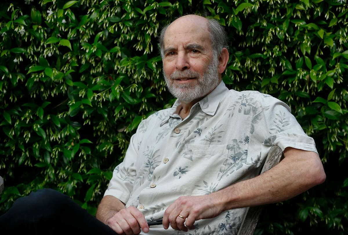 Attorney Michael Rubin works in the front patio of his home in Berkeley, Calif. on Wednesday, May 13, 2020.