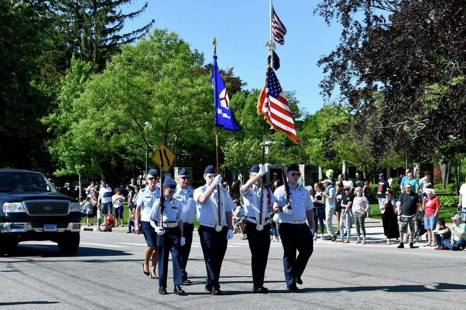 Above, a scene from Torrington's 2019 Memorial Day parade. Photo: Lara Green-Kazlauskas / For Hearst Connecticut Media /