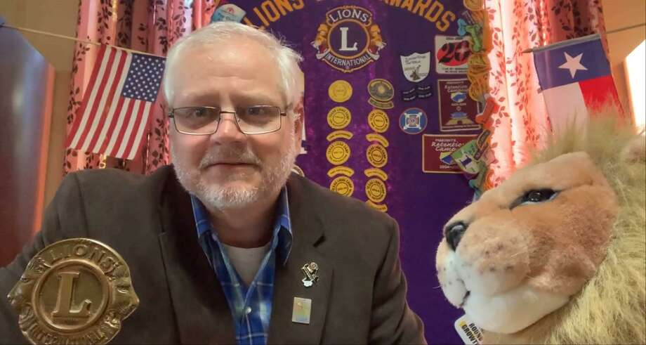 Conroe Noon Lions Club President Scott Perry presides over the club's weekly 'No Show' meetings on the club's Facebook page each Wednesday at noon during the coronavirus pandemic. Photo: Courtesy Photo
