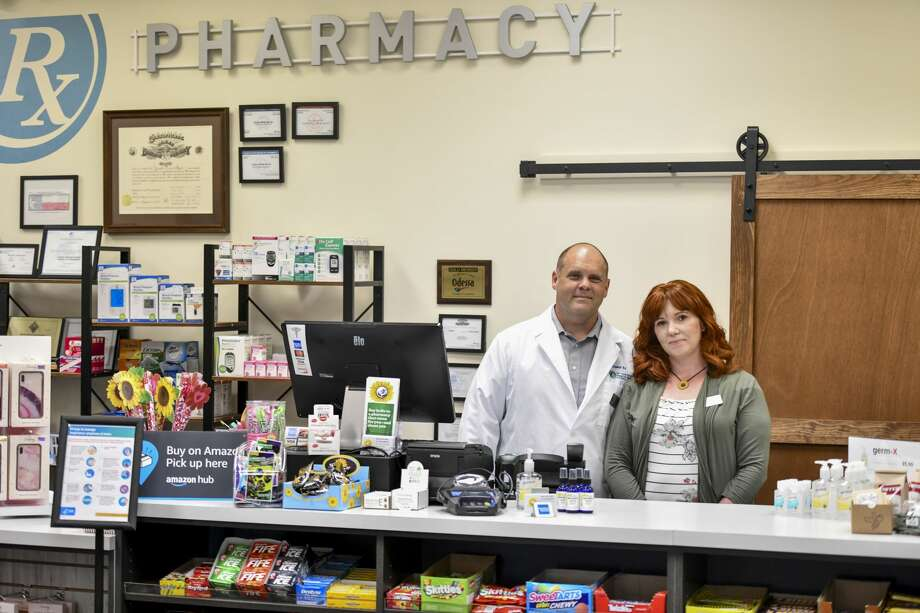 Brian and Shavonica Meyer pose on Friday, May 1, 2020 at Sunflower Rx at 700 North Grant Suite 150. Jacy Lewis/Reporter-Telegram Photo: Jacy Lewis/Reporter-Telegram