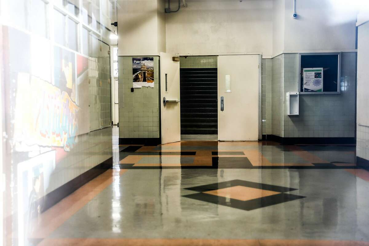 The interior of McClymond's High School in West Oakland on Thursday, Feb. 20, 2020. Authorities recently found a cancer-causing chemical in groundwater and the school is expected to be closed at least through Friday.