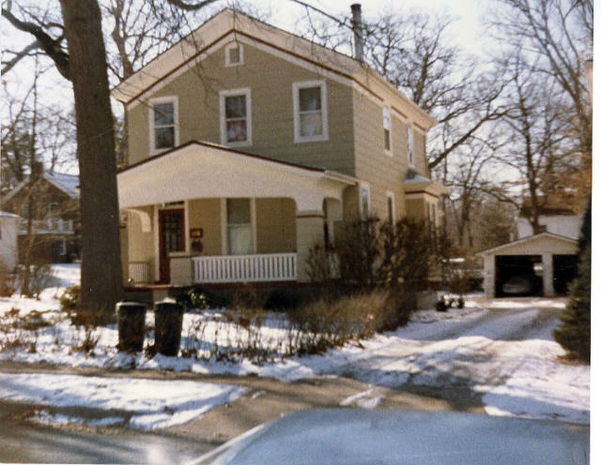 The house at 112 Elm Street before a 1993 addition was grafted on.