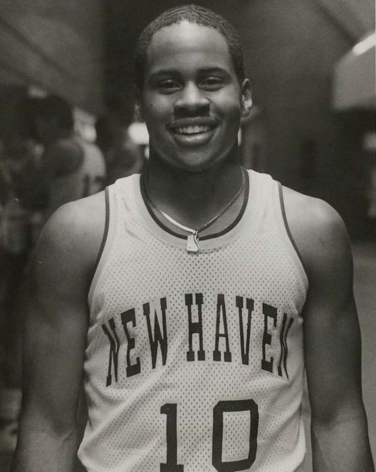Ken Coleman as member of University of New Haven basketball team.