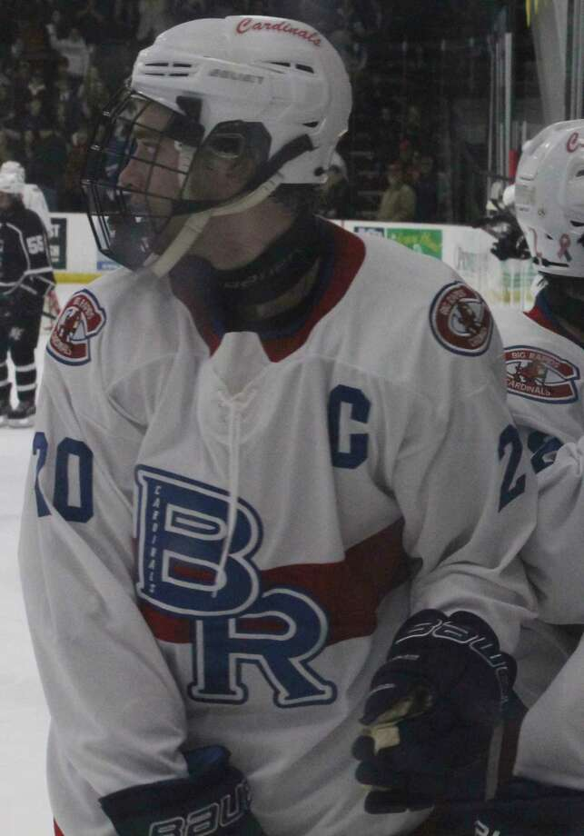 Thomas Crandell (20) played four varsity hockey seasons for Big Rapids. (Pioneer file photo)