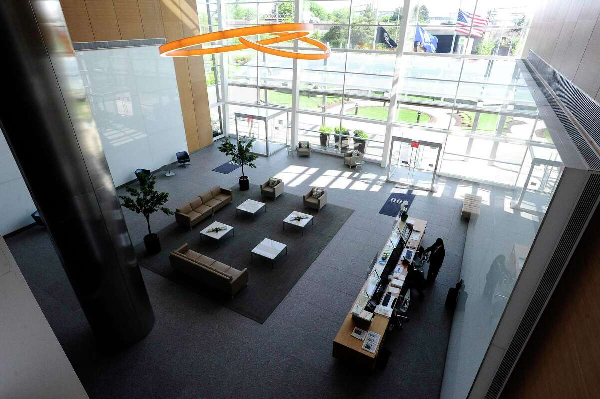A view of the lobby of the office building at 200 Elm St., in downtown Stamford, Conn. Insurer Ascot Group has signed a lease for 24,000 square feet at 200 Elm.