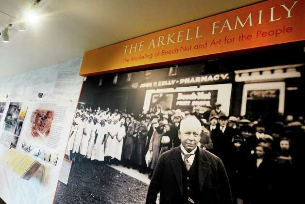 Bartlett Arkell, the first president of Beech-Nut Packaging, on display leading visitors to a History of Beech-Nut Exhibit at The Arkell Museu (Luanne M. Ferris/Times Union) Photo: Luanne M. Ferris