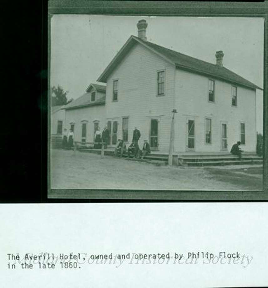 The Averill Hotel, owned by Philip Flock in the late 1860s. (Midland County Historical Society)