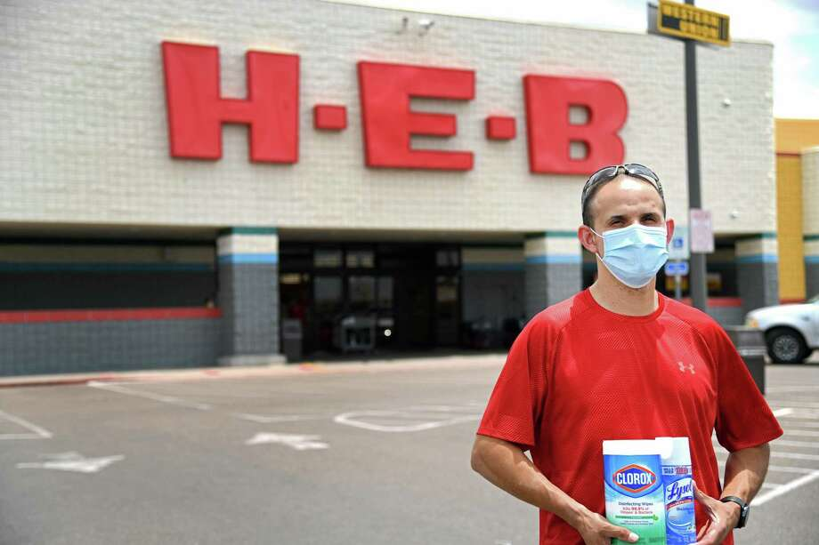 Rick Rodriguez, Instacart Delivery Driver, provides essential items to frontline employees, the elderly and others in need during the COVID-19 pandemic. Poses for a photo in front of H-E-B on Del Mar and San Dario, Monday, May 11, 2020. Photo: Christian Alejandro Ocampo / Laredo Morning Times