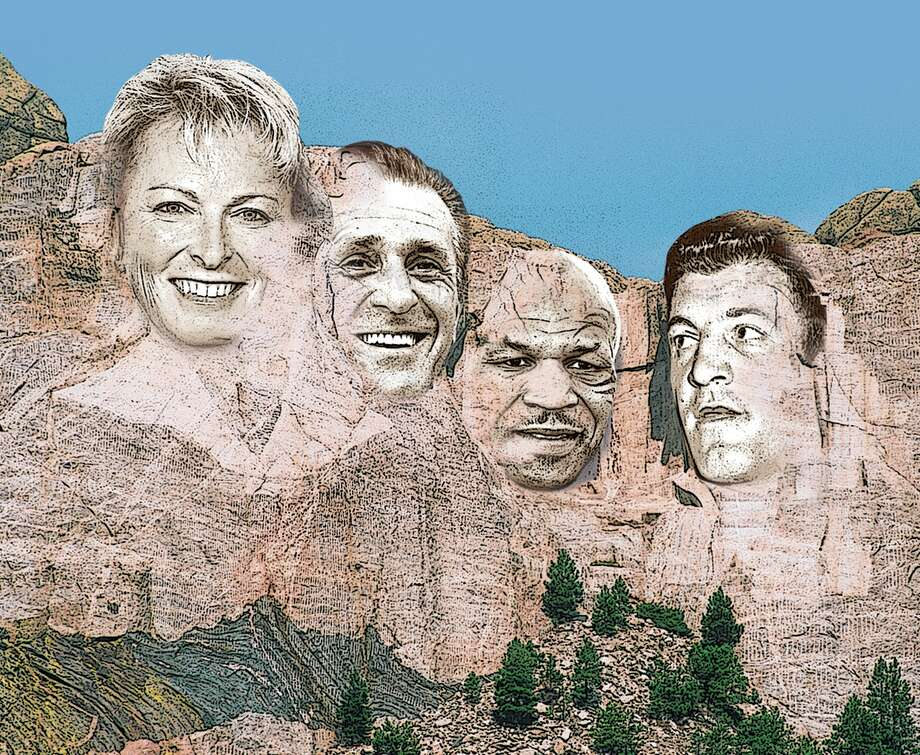 The Mount Rushmore of Capital Region athletes features Dottie Pepper, Pat Riley, Mike Tyson and Ernie Stautner. (Jeff Boyer/Times Union) Photo: Jeff Boyer / Times Union / ©AnitaBurke