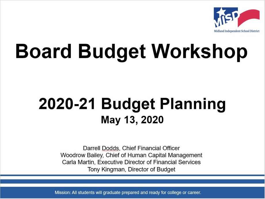 Midland ISD budget workshop powerpoint Photo: MISD
