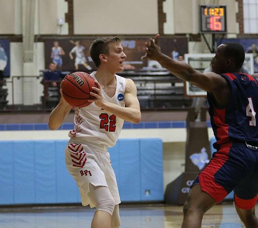 Stillwater High graduate Mitchel Wayand of the RPI men's basketball team. (Courtesy of RPI Athletics)