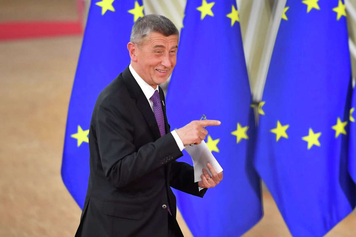 Andrej Babis, Czech Republic's prime minister, arrives for a European Union (EU) leaders summit in Brussels on Feb. 20, 2020.