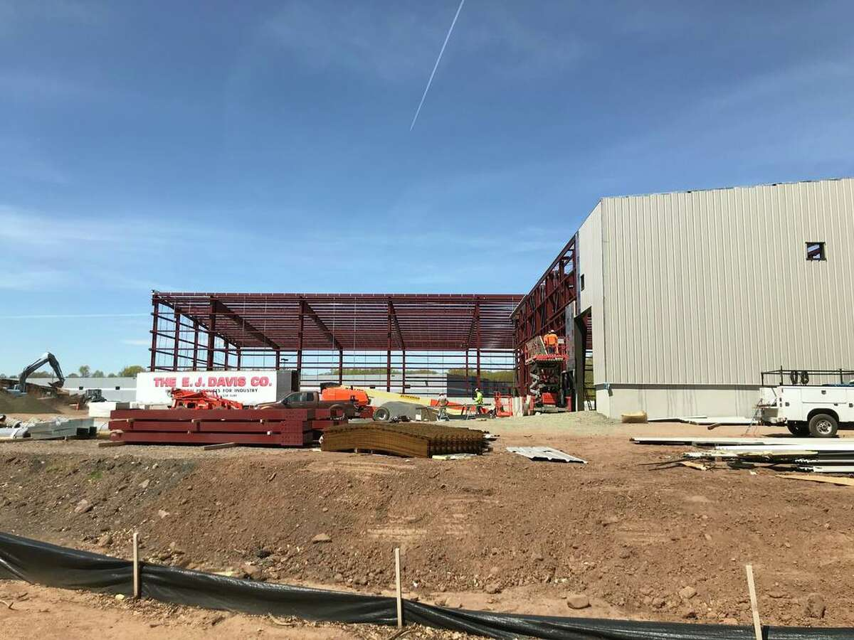 The town garage in Cromwell is under construction.
