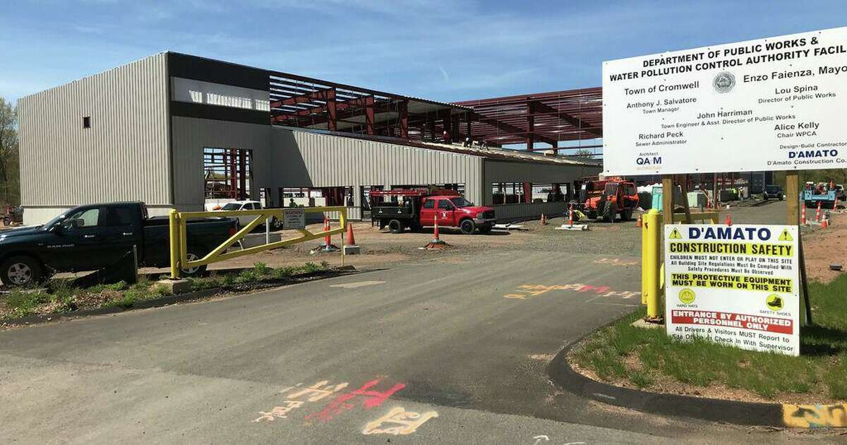 In this file photo, the town garage in Cromwell is under construction in May 2020.