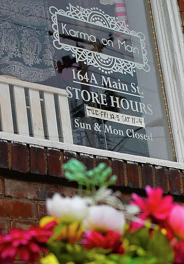 Karma on Main is among many area businesses waiting until June 1 when they can hopefully re-open to the public. Photo: Tyler Pletsch/Intelligencer