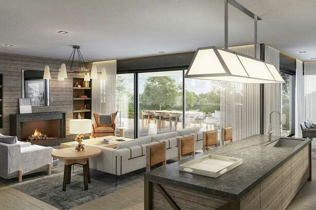 This rendering showcases the contemporary design, thoughtful built-ins and open floor plans that will accompany homes within the Pendry Residences Natirar in New Jersey.