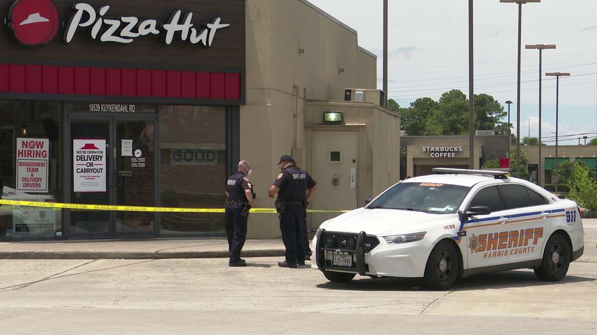A man was shot thrice Sunday afternoon during an attempted robbery at a Pizza Hut in Spring, according to the Harris County Sheriff's Office.