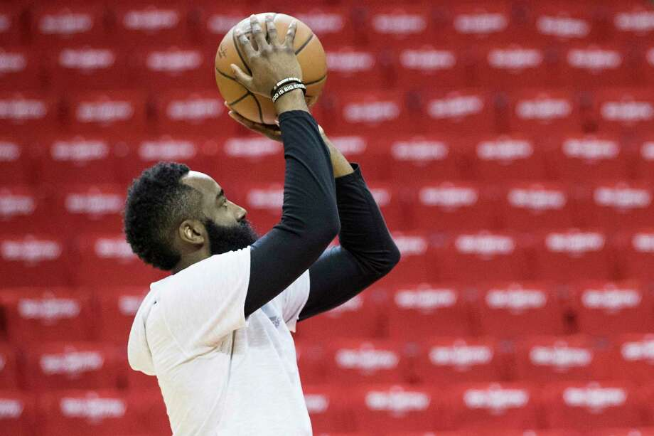PHOTOS: Some of the funniest Twitter reactions to James Harden's choice of mask Rockets star James Harden joined his team in Florida and had his first practice with his teammates Thursday. Photo: Brett Coomer, Houston Chronicle / Staff Photographer / © 2019 Houston Chronicle