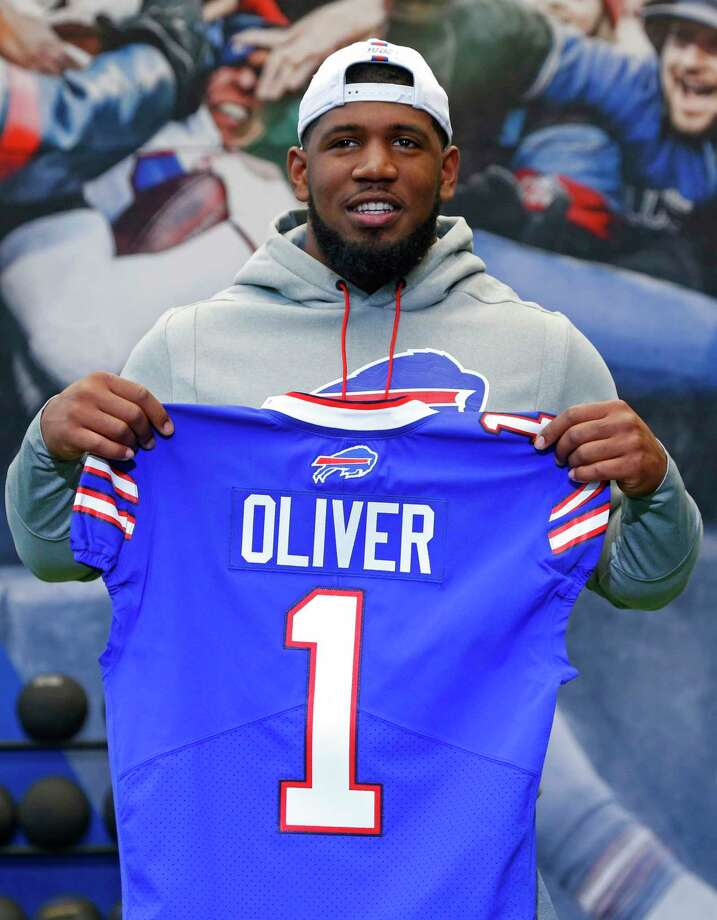 Buffalo Bills first-round draft pick Ed Oliver poses for photographs following an NFL football news conference Friday, April 27, 2019, in Orchard Park N.Y. (AP Photo/Jeffrey T. Barnes) Photo: Jeffrey T. Barnes / 2019.Associated Press. All Rights Reserved.