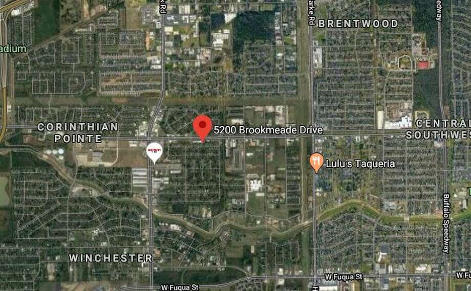 An armed man threatened to harm himself Sunday after a traffic stop in the in the 5200 block of Brookmeade at Kelling, police said. Photo: Google Maps