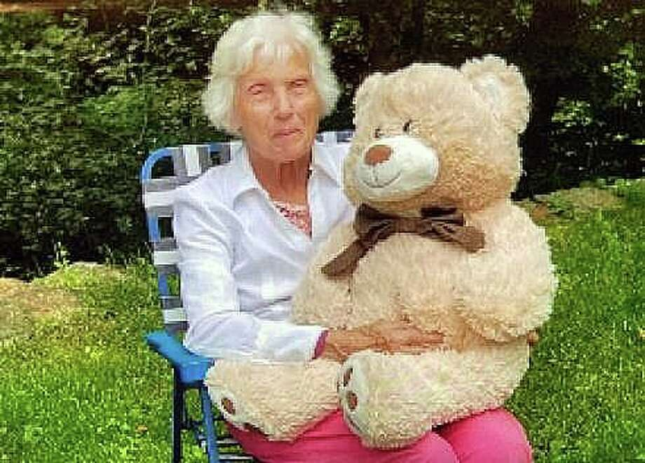 State Police have issued a Silver Alert for an 88-year-old woman who may be carrying a stuffed teddy bear. Troopers said Sylvia Perkins, of Pomfret, has been missing since Sunday, May 17, 2020. She was last seen wearing a white button up cardigan with black pants and pink shoes. Photo: Contributed Photo