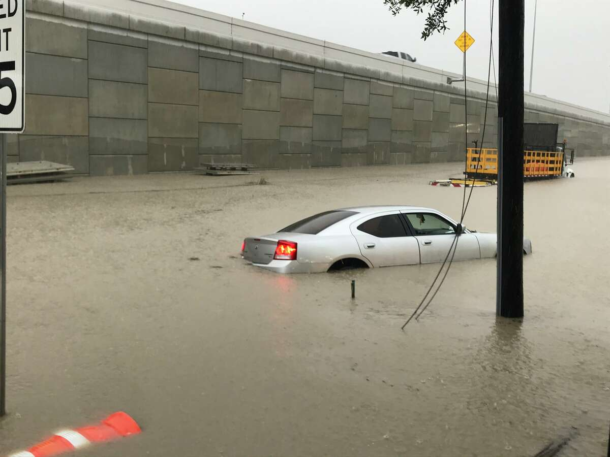 Street flooding on May 15 in Pasadena. Photo: Ian Shelton/Twitter