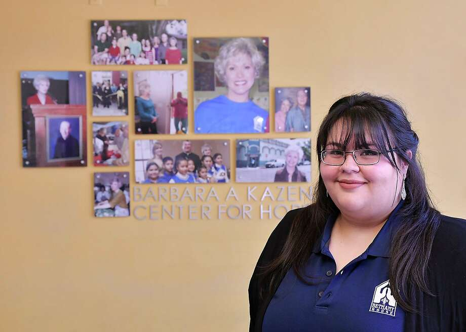 Samantha Salinas, nominated as one of LMT's Laredo Heroes Unmasked, is the Resource Center Attendant at the Bethany House's Barbara Kazen Center for Hope. Photo: Cuate Santos / Laredo Morning Times