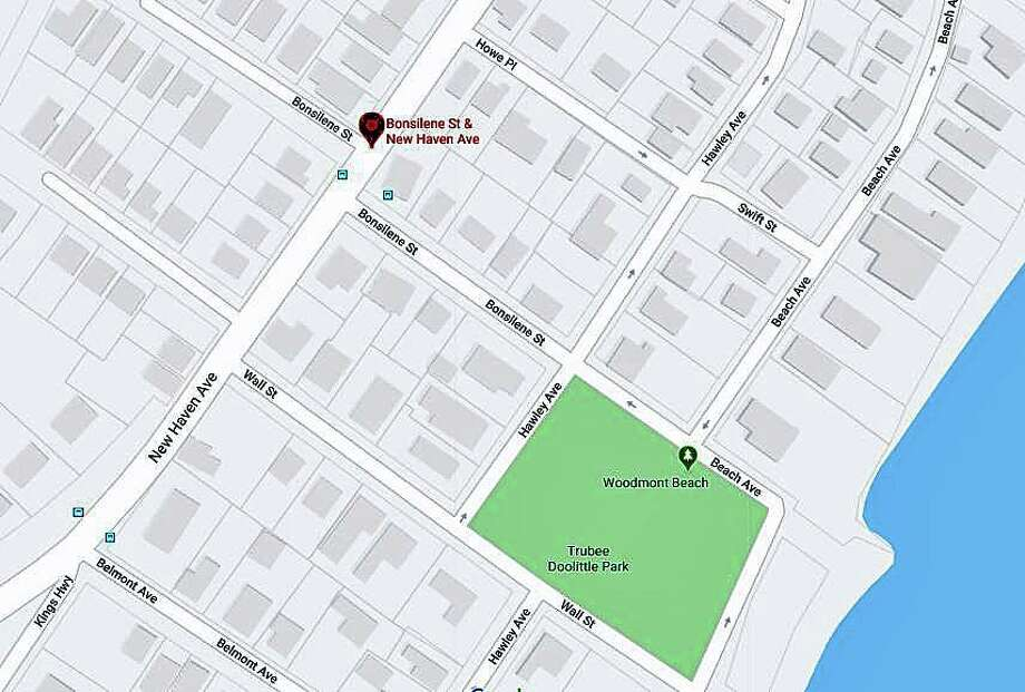A motorcyclist is in critical condition at Yale New Haven Hospital after a collision with a vehicle Saturday night on May 16, 2020. The accident was reported at 7:53 p.m. in the area of New Haven Avenue at Bonsilene Street. The motorcyclist has been identified as Wade Haskins-Mooney. Photo: Google Maps