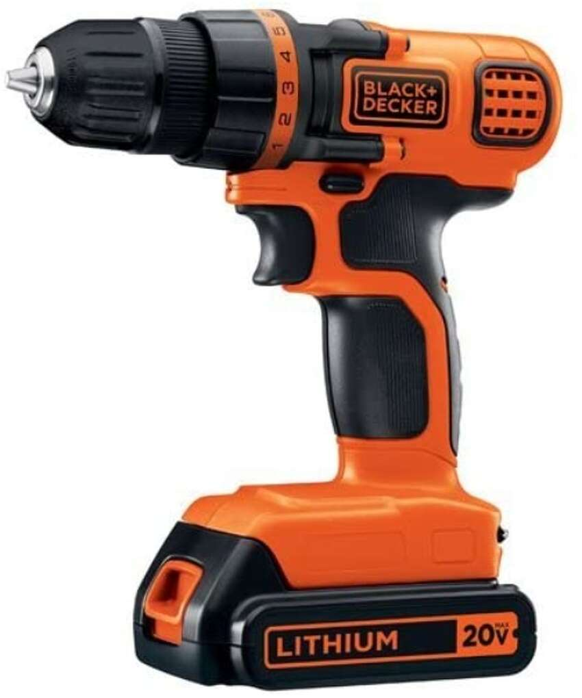 BLACK+DECKER 20V MAX Cordless Drill / Driver, 3/8-Inch (LDX120C) for $39.00 at Amazon BLACK+DECKER 20V MAX Drill & Home Tool Kit, 68 Piece (LDX120PK) for $74.99 at Amazon