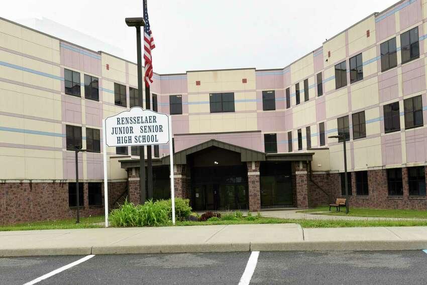 Exterior of Rensselaer City Schools on Monday, May 18, 2020 in Rensselaer, N.Y. (Lori Van Buren/Times Union)