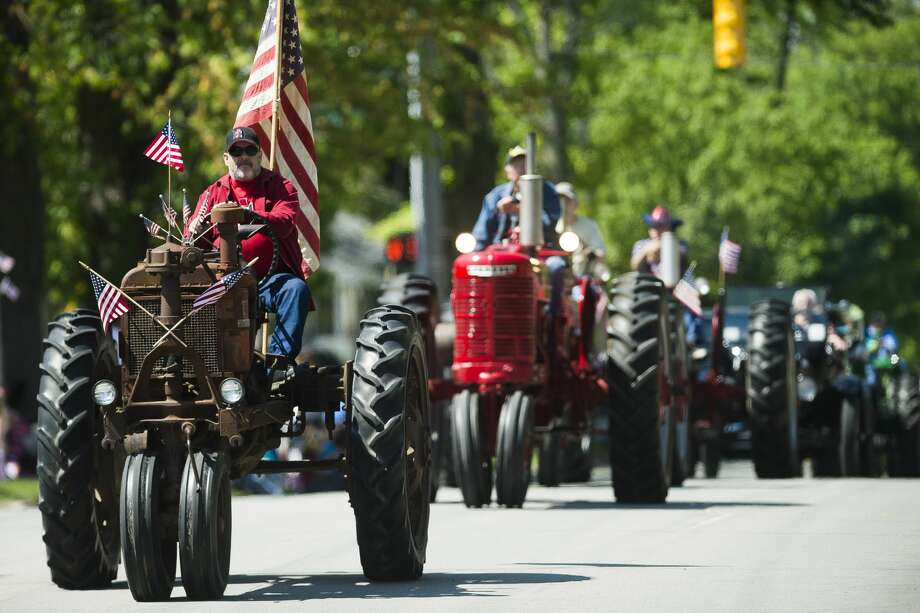 A scene from last year's Memorial Day parade in downtown Midland, May 27, 2019. Photo: Daily News File Photo