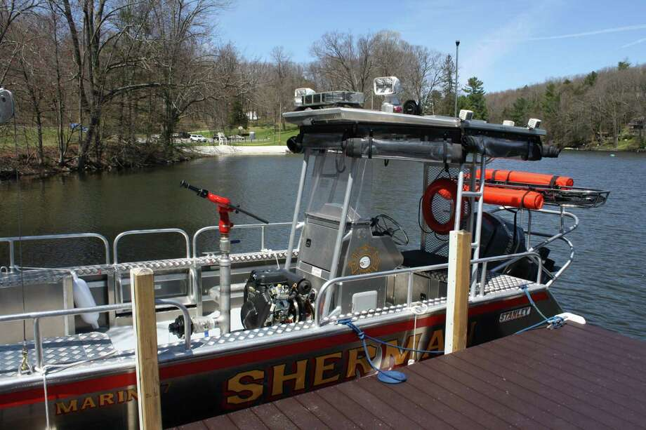 Sherman Volunteer Fire Department's new Marine 7 fire/rescue boat. Photo: Sherman Volunteer Fire Department