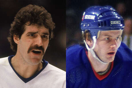 Before they helped the New York Islanders win four Stanley Cups in the 1980s, Clark Gillies (left) and Bob Bourne were teammates in the Astros' farm system in 1972.