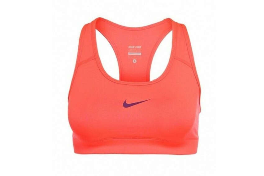 Nike Women's Victory Compression Sports BraNike amazon.com$33.48Here's a versatile high-impact sports bra you can use for any sport, gym session, or athletic event. The super smooth jersey material won't show through your clothes, and the compression fit will prevent bounce throughout your race.It comes in 18 different colors to go with any workout tank, too.