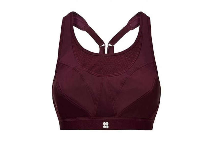 Sweaty Betty Ultra Run Sports BraSweaty Betty sweatybetty.com£65.00Calling all runners: This high-impact sports bra will hold you in place, and it's ventilated to the max so sweat doesn't soak through. It has padded straps so your shoulders don't feel extra pressure as you jog.You can choose to wear it with a racerback by clipping the straps together, or without.