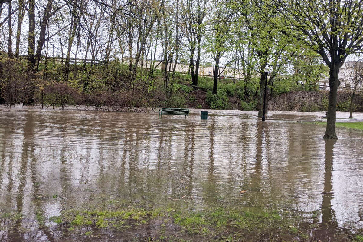 Parts of Big Rapids are under water after heavy rain fall Sunday and Monday.