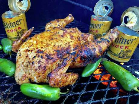 Shiner Bock smoked chicken from Compadres Hill Country Cocina