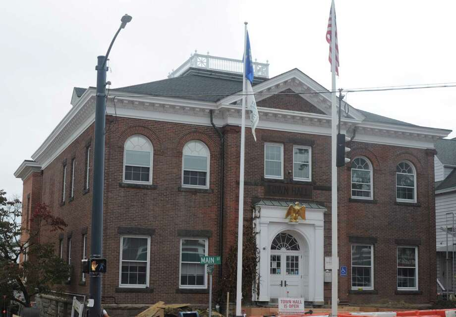 People can't meet in town hall under coronavirus restrictions, but the finance board will conduct a public hearing on the town and school budgets tonight on zoom. Registration is available through the town website www.Ridgefieldct.org. Photo: Macklin Reid / Hearst Connecticut Media