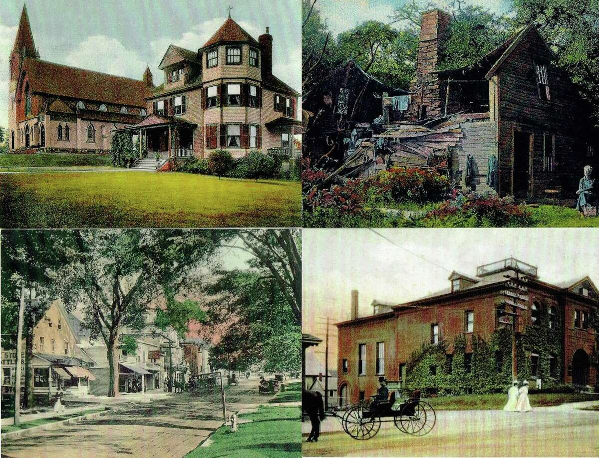 """Sets of postcard scenes of """"Old Ridgefield"""" are being offered for sale to benefit the Ridgefield Historical Society."""