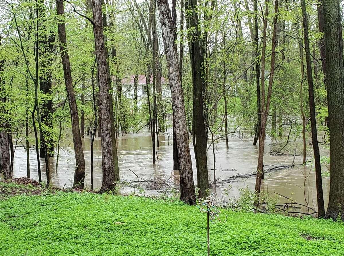 A Midland Daily News Facebook follower shares a photo of Sturgeon Creek following a heavy rain.