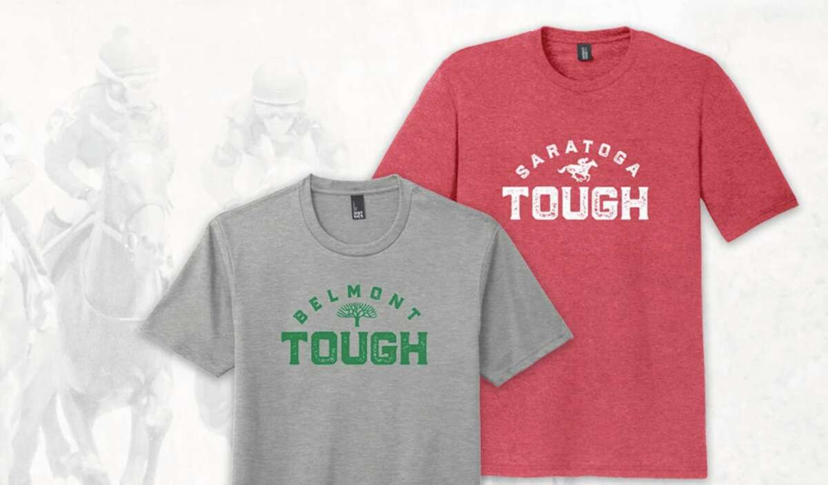 T-shirts being sold on shop.nyra.com to benefit backstretch workers.