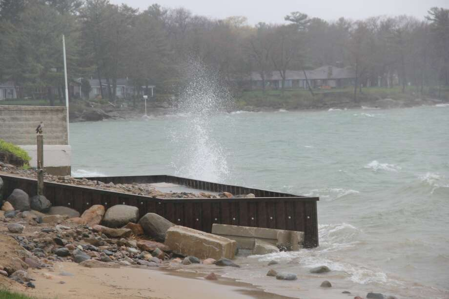 Huron County was under a beach hazard warning Tuesday through Wednesday afternoon as the National Weather Service expected hazardous swimming conditions. (Tribune File Photo) Photo: Robert Creenan Huron Daily Tribune