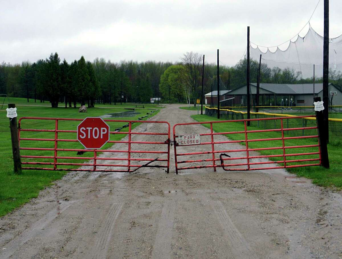 While limitations on social distancing around the state and country are beginning to loosen, many parks and Little-League complexes remain closed until further notice. (Pioneer photo/Joe Judd)