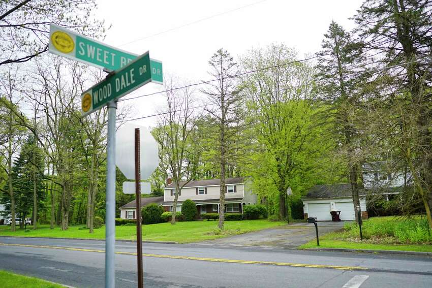 A view of the homes along Wooddale Dr. on Monday, May 18, 2020, in Clifton Park, N.Y. The homes boarder a wooded area. Some residents are upset over plans to harvest 60 acres of the forest behind their homes for lumber. (Paul Buckowski/Times Union)