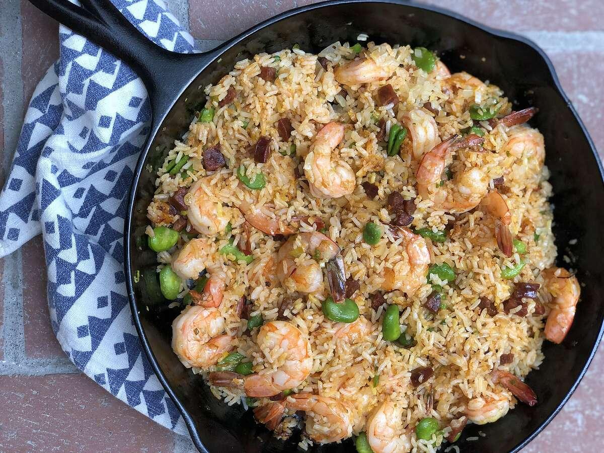 Paella fried rice