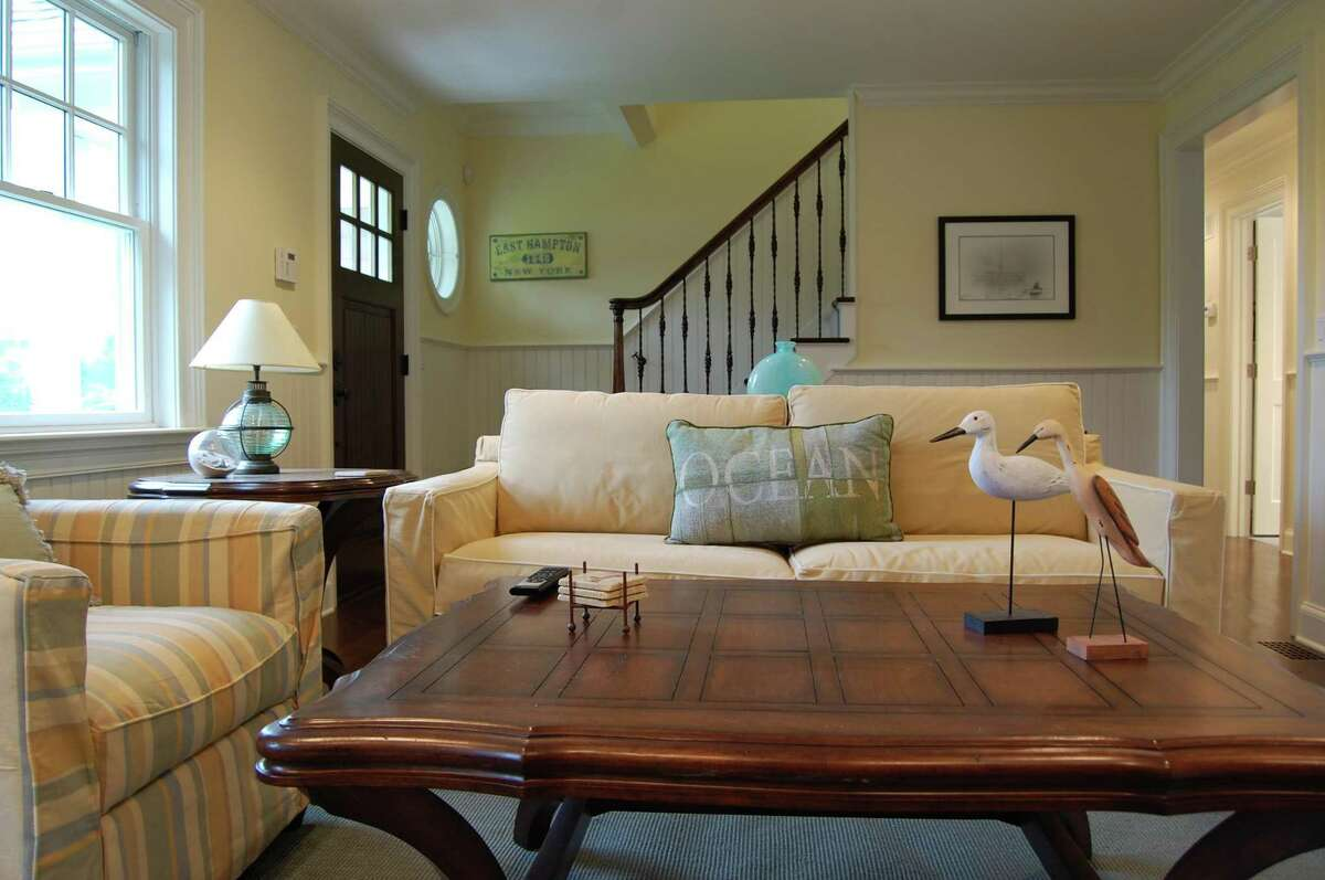 Marsha Matto, principal and head designer of Point of View Interiors in Sandy Hook, created this informal yet inviting living space for a client prior to the coronavirus. Interior design projects are already being impacted by the virus, with team members donning masks and applying hand sanitizer during meeting and installations.
